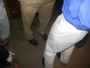"Enter our ""name these shoes and khakis"" sweepstakes.  Good luck!"