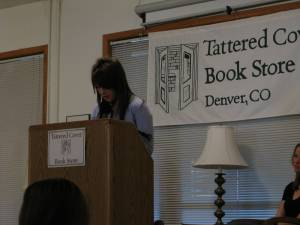 Young writers read at Tattered Cover in front of an audience of over 100