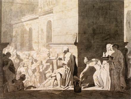Homer reciting the Odyssey