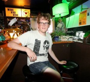 Aspiring novelist Patrick Kelly has written up a storm during Lit Fest this year and last.
