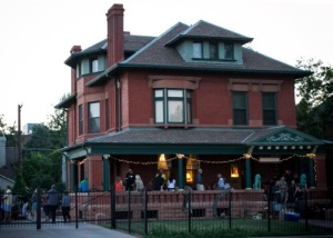 Speaking of openings, this was the Lit Fest kickoff on June 7. Ted might be on the porch.