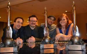 Left to right: Neil Clarke, Sean Wallace, Jason Heller, Kate Baker