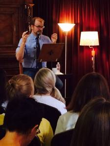 George Saunders visits Lighthouse Writers Workshop as part of his  Writer's Studio.
