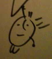 George Saunders autograph: detail.