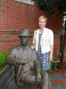 Hanging with Mr. Faulkner in Oxford.